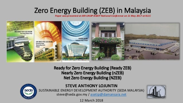Ready for Zero Energy Building (Ready ZEB) Nearly Zero Energy Building (nZEB) Net Zero Energy Building (NZEB) STEVE ANTHON...