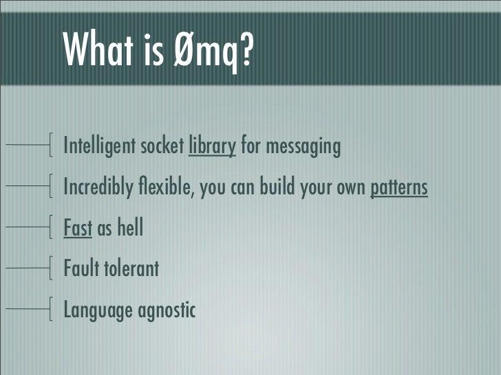 ZeroMQ in PHP Slide 2