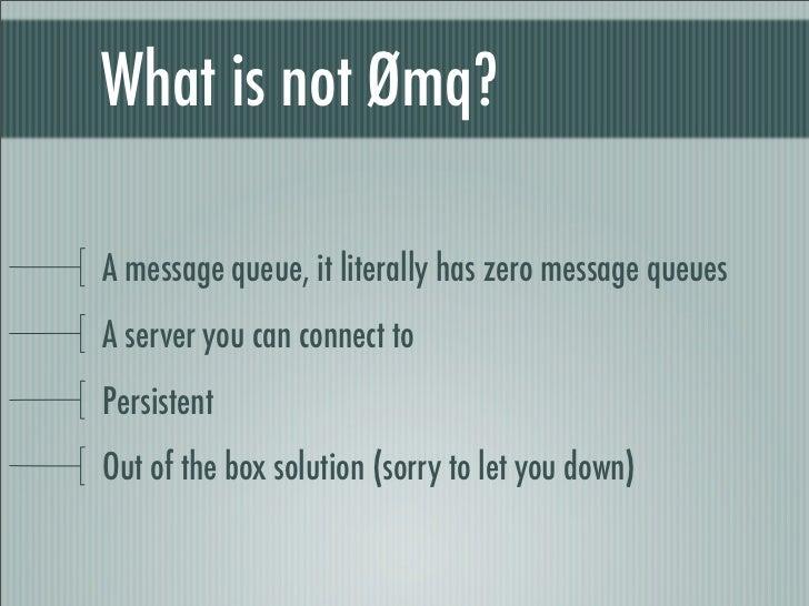 ZeroMQ in PHP Slide 3