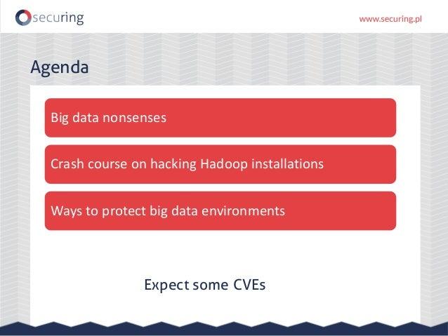Big problems with big data – Hadoop interfaces security Slide 3