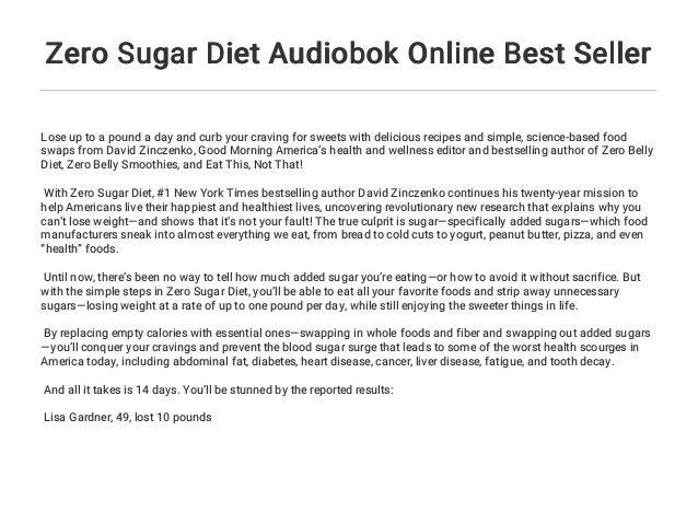 Zero Sugar Diet Audiobok Online Best Seller
