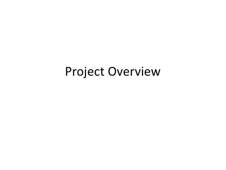 Project Overview<br />