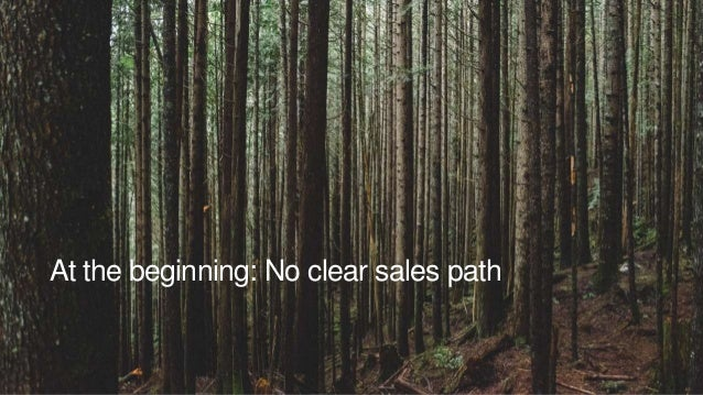 At the beginning: No clear sales path