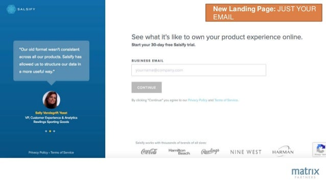 New Landing Page: JUST YOUR EMAIL