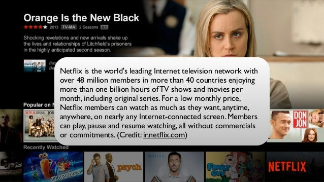 #netflixoss Netflix is the world's leading Internet television network with over 48 million members in more than 40 countrie...