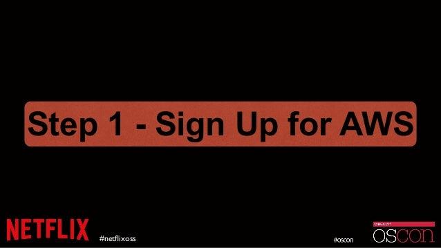 #netflixoss Step 1 - Sign Up for AWS