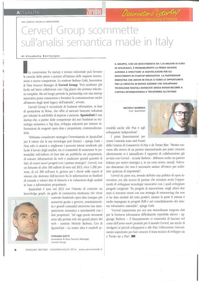 Cerved Group scommette sull'analisi semantica made in Italy