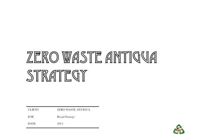 ZERO WASTE ANTIGUASTRATEGYCLIENT   ZERO WASTE ANTIGUAJOB      Brand StrategyDATE     2013