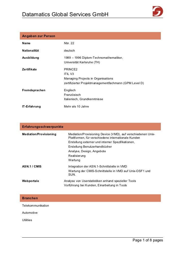 Datamatics Global Services GmbHAngaben zur PersonName                     Nbr. 22Nationalität             deutschAusbildun...