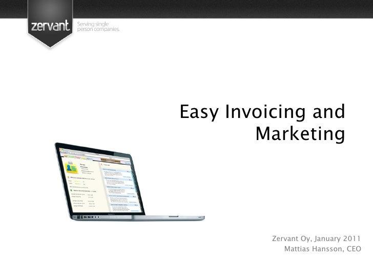 Zervant Presentation Moneytalks