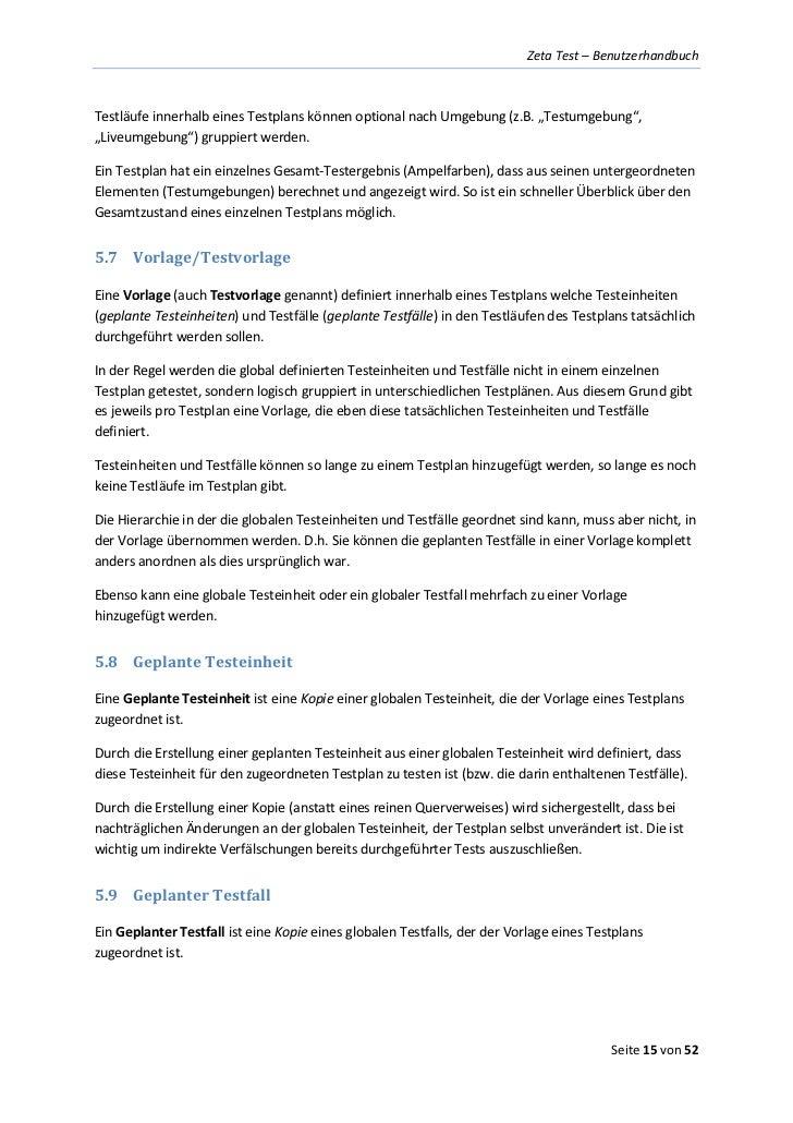 Test Management Software Benutzerhandbuch