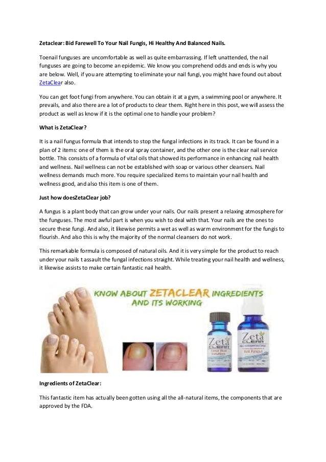 Zetaclear Bid Farewell To Your Nail Fungis Hi Healthy And Balanced