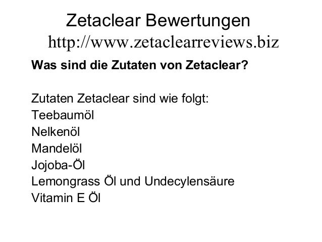 Zetaclear Bewertungen http://www.zetaclearreviews.biz Was sind die Zutaten von Zetaclear? Zutaten Zetaclear sind wie folgt...