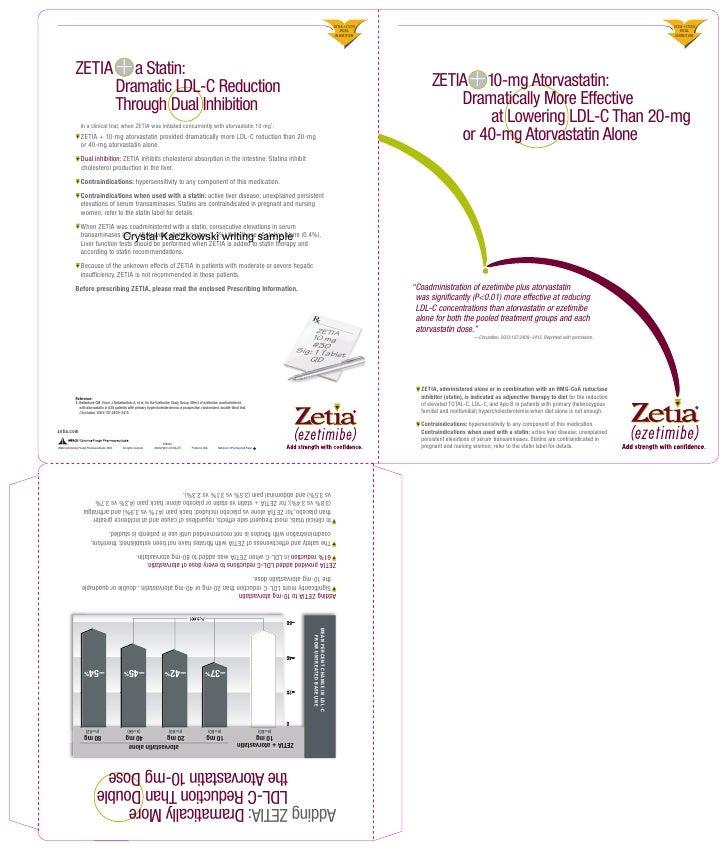 Zetia Reprint Holder Atorvastatin Corbett Work Sample