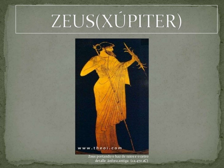 Zeus portando o haz de raios e o cetro   detalle ánfora antiga (ca.470 aC)