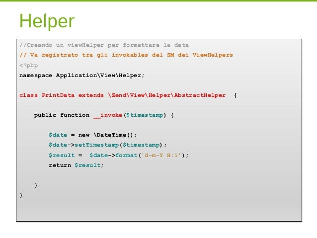 Creando una form//Creiamo il file ContactForm dentro nostro modulo Application/src/Form<?phpnamespace ApplicationForm;use ...