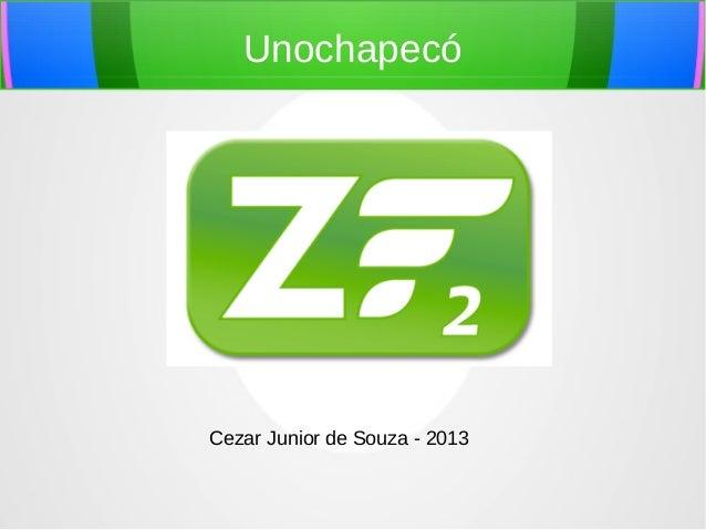Unochapecó  Cezar Junior de Souza - 2013