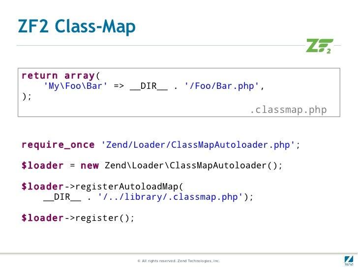 ZF2 Class-Mapreturn array(    MyFooBar => __DIR__ . /Foo/Bar.php,);                                                       ...