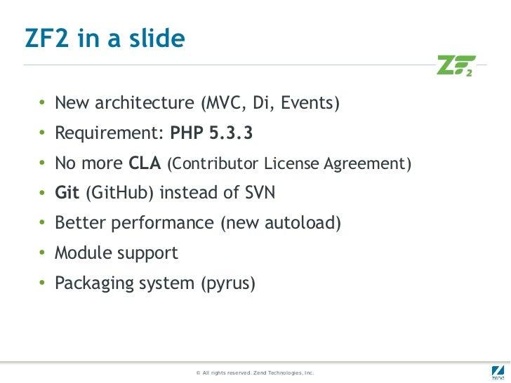 A quick start on Zend Framework 2 Slide 3