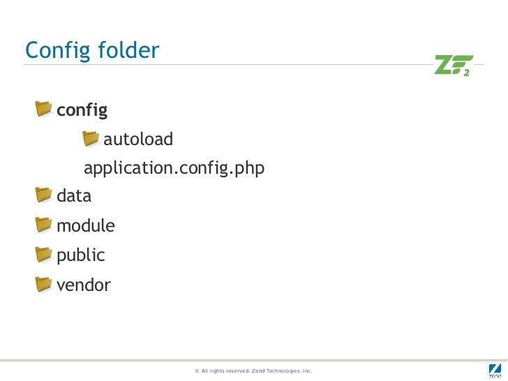 Config folder  config         autoload     application.config.php  data  module  public  vendor                    © All r...