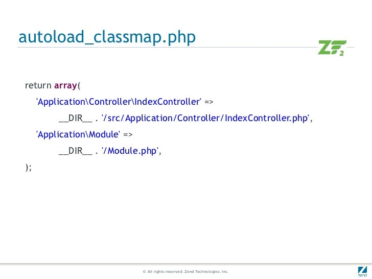 autoload_classmap.phpreturn array(     ApplicationControllerIndexController =>          __DIR__ . /src/Application/Control...