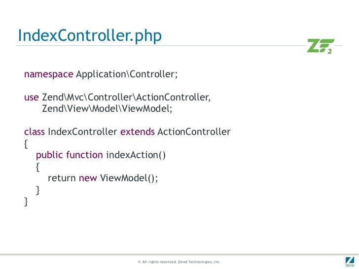 A quick start on Zend Framework 2