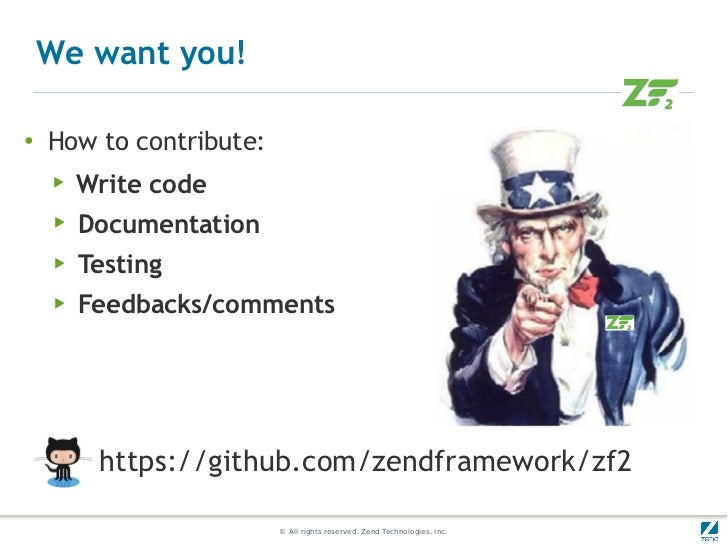 We want you!●    How to contribute:    ▶   Write code    ▶   Documentation    ▶   Testing    ▶   Feedbacks/comments       ...
