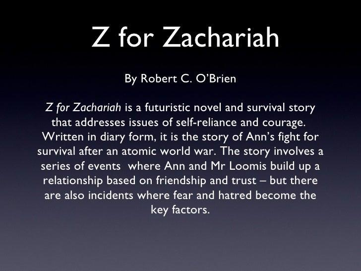 z for zachariah mr loomis essay