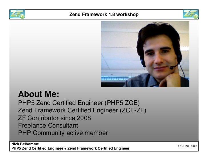 Zend Framework 1.8 workshop Slide 2