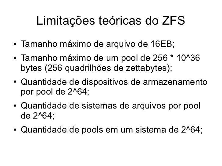 Zfs zettabyte file system for Zfs pool design