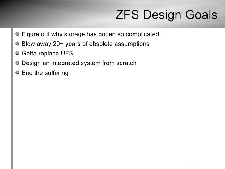 Zfs tutorial usenix lisa09 conference for Zfs pool design