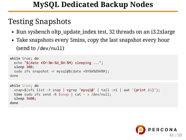 ZFS and MySQL on Linux, the Sweet Spots