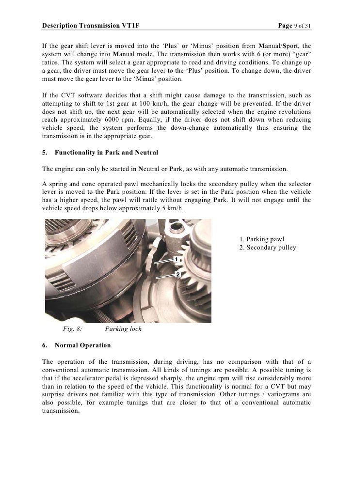 Zf vt1f cvt Repair manual