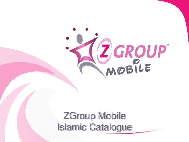 ZGroup MobileIslamic Catalogue