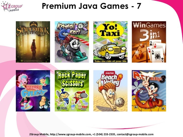 java phone games
