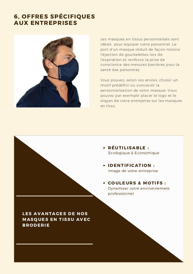 Les masques en tissus personnalisés sont idéals pour équiper votre personnel. Le port d'un masque réduit de façon notoire...