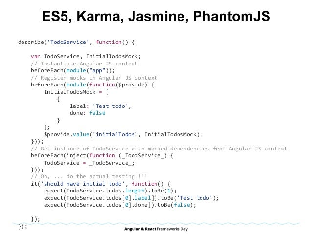 ES6, Mocha, chai import{assert}from'chai'; importSomeComponentfrom'./some-component'; letcomponent; describe('...