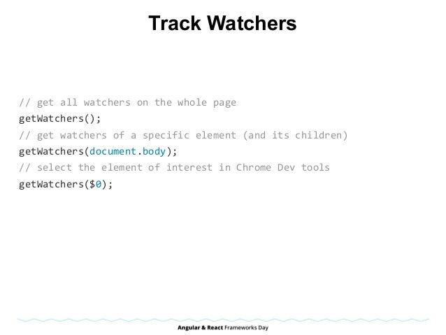 Track Watchers //getallwatchersonthewholepage getWatchers(); //getwatchersofaspecificelement(anditschild...