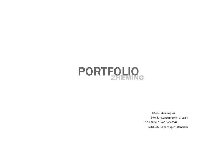 Zheming Product Design Portfolio