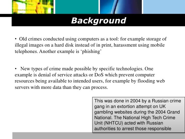 Computer crime research paper outline
