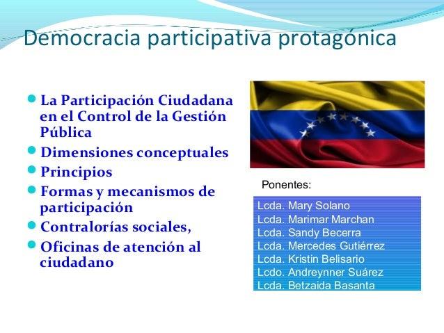Particiapción ciudadana en el control de la gestión pública en vzla Slide 2