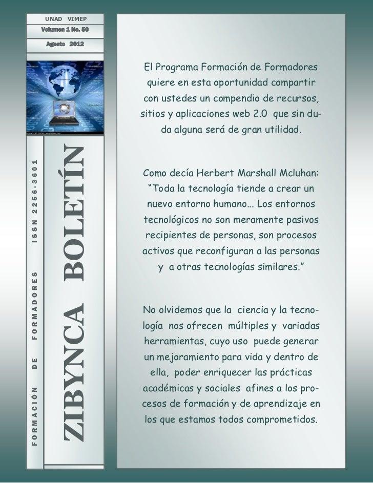UNAD VIMEP                 Volumen 1 No. 50                  Agosto 2012                                        El Program...