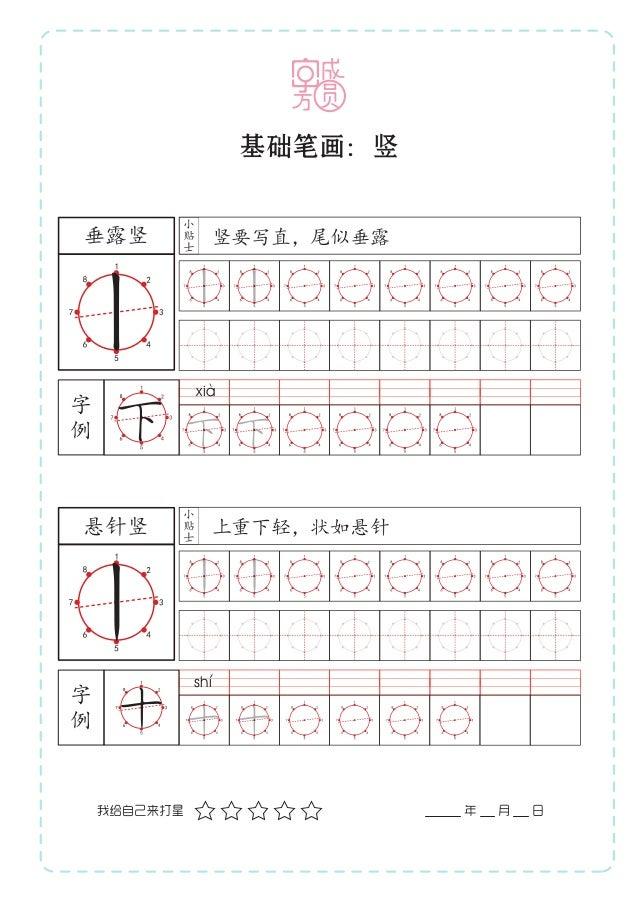 """""""字成方圆""""核心笔画练习册 Slide 3"""