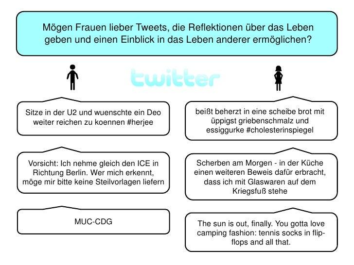 Der kleine Unterschied bei Twitter - Zielgruppenansprache