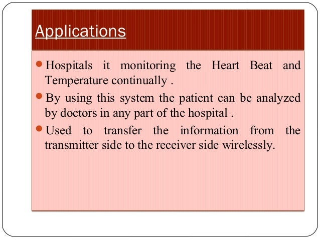 Wireless patient monitoring system ppt