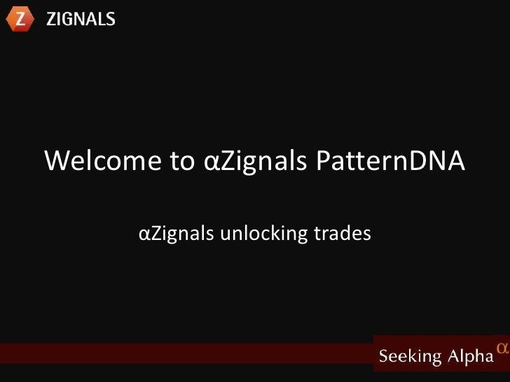 Welcome to αZignals PatternDNA<br />αZignals unlocking trades<br />