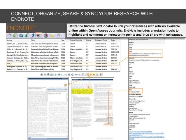 how to use endnote to find full text
