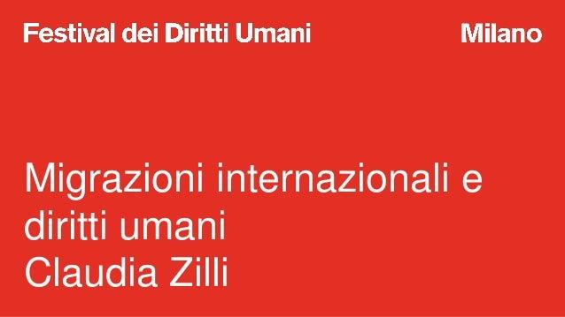 A scuola di Diritti Umani: migrazioni internazionali e diritti umani Slide 2