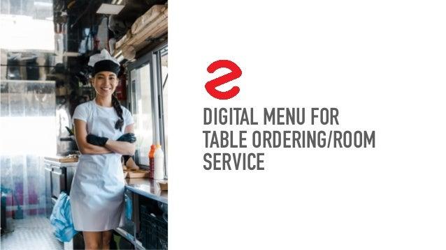 DIGITAL MENU FOR TABLE ORDERING/ROOM SERVICE