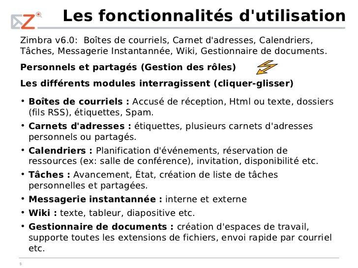 Pr 233 Sentation De L Implantation De Zimbra Chez R 201 Max Qu 233 Bec